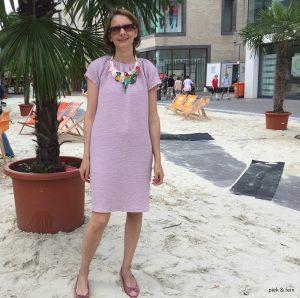 rosa Sommerkleid Lucie von Schnittchen Patterns