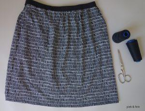 Pocket Skirt aus schwarz weißem Jersey