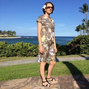 Fotoshooting Sommerkleid auf Hawaii