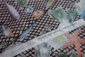 gemusterter Alta Moda Stoff für das Burdastyle Sommerkleid