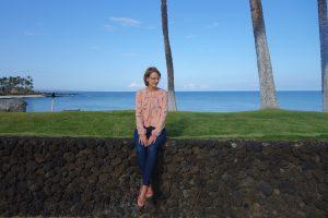 Burdastyle Seidenbluse beim Fotoshooting auf Hawaii