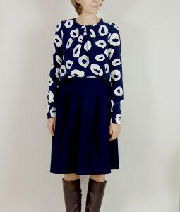 dunkelblauer Rock aus der Fashion Style