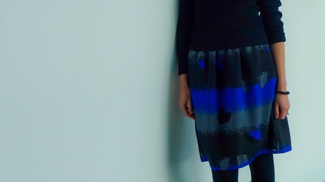 Pocket Skirt aus Wollstoff | piek&fein