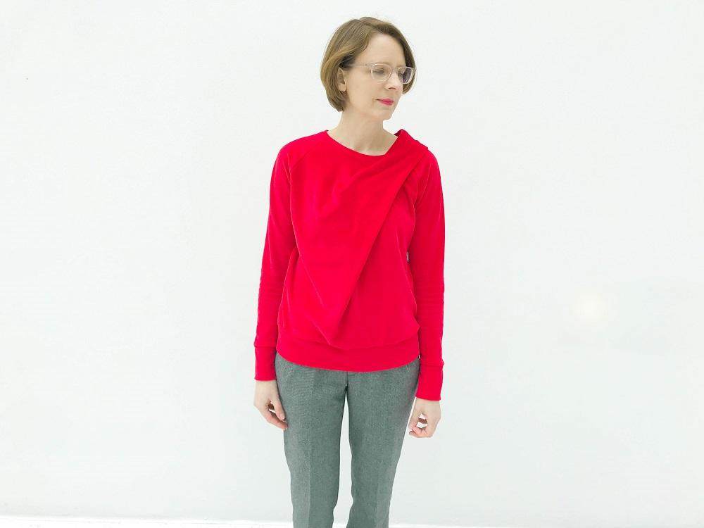 Bowline Sweater mit Drapierung