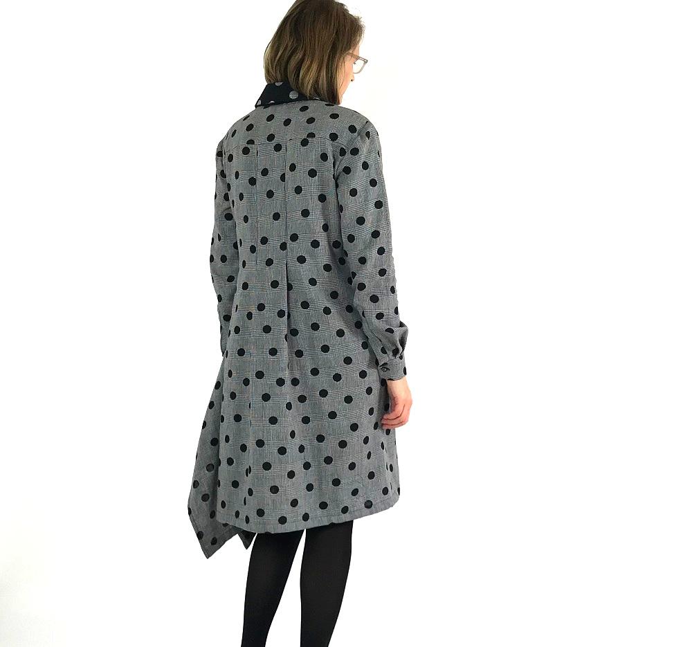 Nähdetail des Burdastyle Kleids: Steppfalte im Rücken