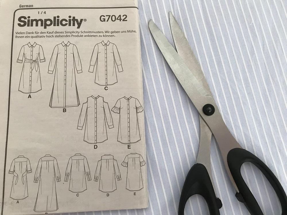 Technische Zeichnungen des Simplicity Schnittmusters
