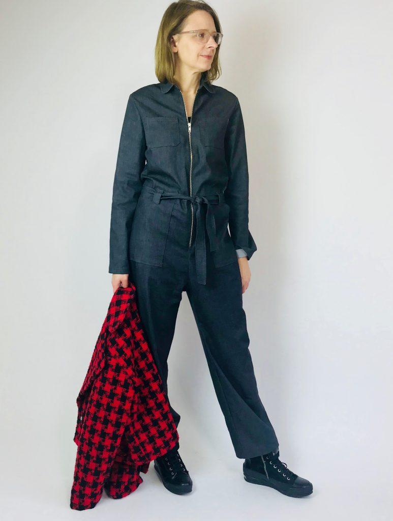 Leah-Jumpsuit mit Kurzjacke